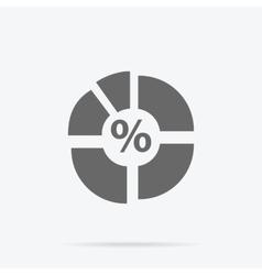 Pie Chart Flat Sign Design Concept vector image