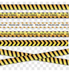 Police line and do not cross caution lines vector