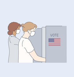 Politics election usa voting coronavirus vector