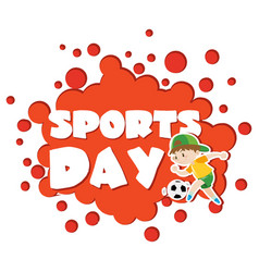 Poster design with sports day theme vector