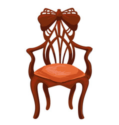 Retro old furniture antique chair with carvings vector