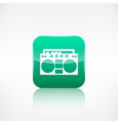 Retro tape recorderApplication button vector image