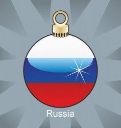 Russia flag on bulb vector image vector image