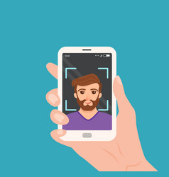 Selfie colorful concept vector