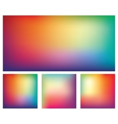 Set of colorful gradient backgrounds vector