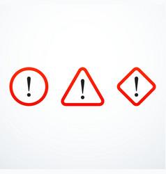 Set warning sign icons vector