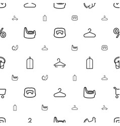 Shop icons pattern seamless white background vector