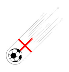 soccer ball with the flag of england vector image