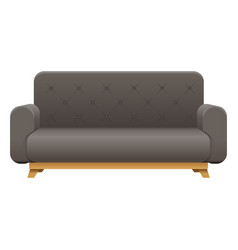 sofa house interior couch icon furniture lounge vector image