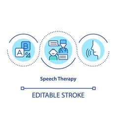 Speech therapy concept icon vector