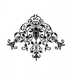 stencil ornament vector image