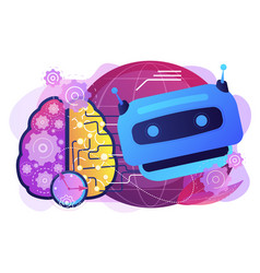 Technological singularity concept vector