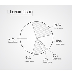 the line pie chart vector image