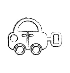 Toy car isolated icon vector