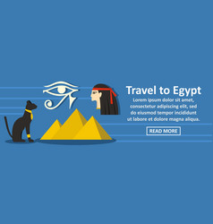travel to egypt banner horizontal concept vector image