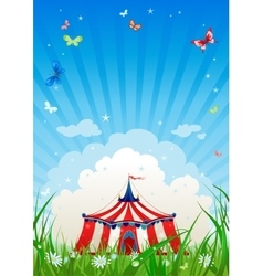 Travelling circus vector image