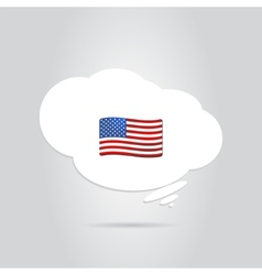 United States Flag in the Cloud vector image