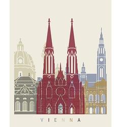 Vienna skyline poster vector
