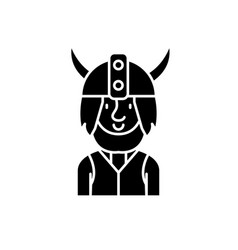 viking black icon sign on isolated vector image