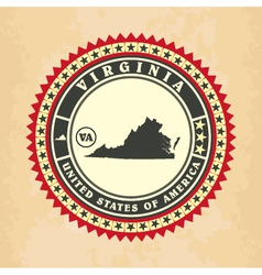 vintage label-sticker cards virginia vector image