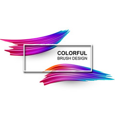 White background with colorful watercolor brush vector