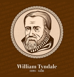 William tyndale was an english scholar vector