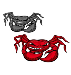 angry crab vector image vector image