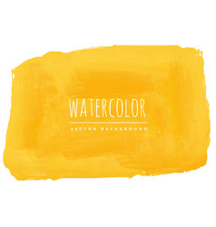 hand painted yellow watercolor texture background vector image