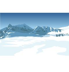 Winter mountains vector image