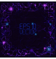 Abstract technological frame vector image vector image