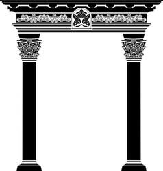 Classic arch stencil vector image vector image