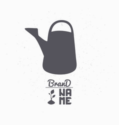 hand drawn silhouette of watering can vector image vector image