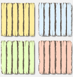Old wooden fence in pastel colors vector image vector image