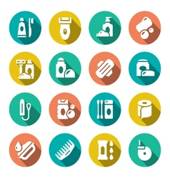 Set flat icons of hygiene vector