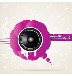 speaker and splash vector image