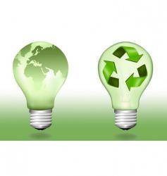 two ecologic light bulbs vector image
