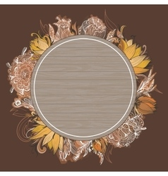Fall Floral Frame vector image vector image