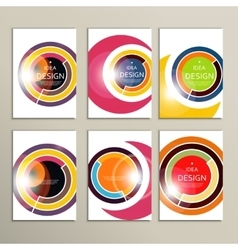 set abstract circle vector image