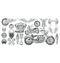 set of icons of vintage vector image vector image