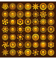 Sun designs vector