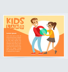 boy bullying a girl teen kids quarreling vector image vector image