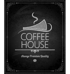 chalkboard coffee vector image vector image