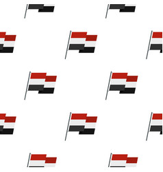 egyptian wavy flag pattern seamless vector image