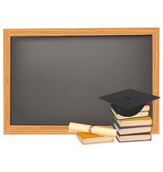graduation and black desk vector image