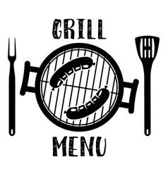 grill menu symbol vector image vector image