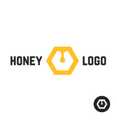 honey logo with abstract sign vector image vector image