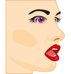 profile of the beautiful girl vector image