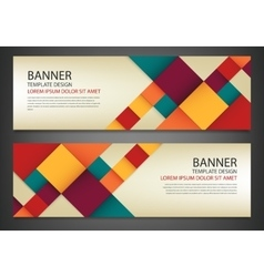 Two banners with colorful squares Business design vector image