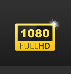 1080 full hd label high technology led television vector image