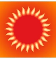 A fiery sun vector